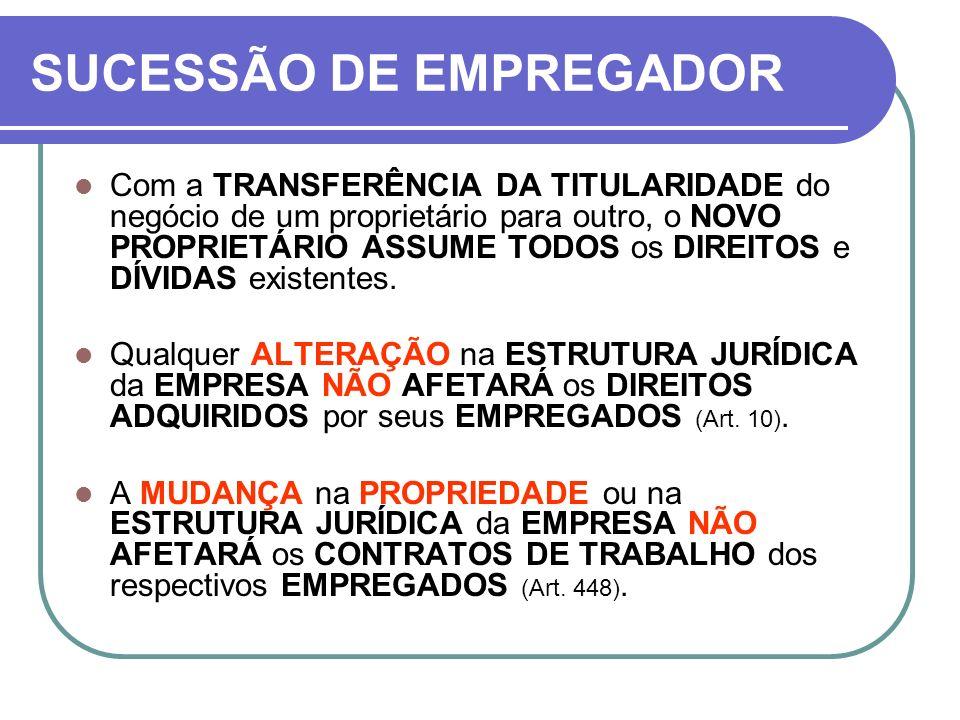 SUCESSÃO DE EMPREGADOR