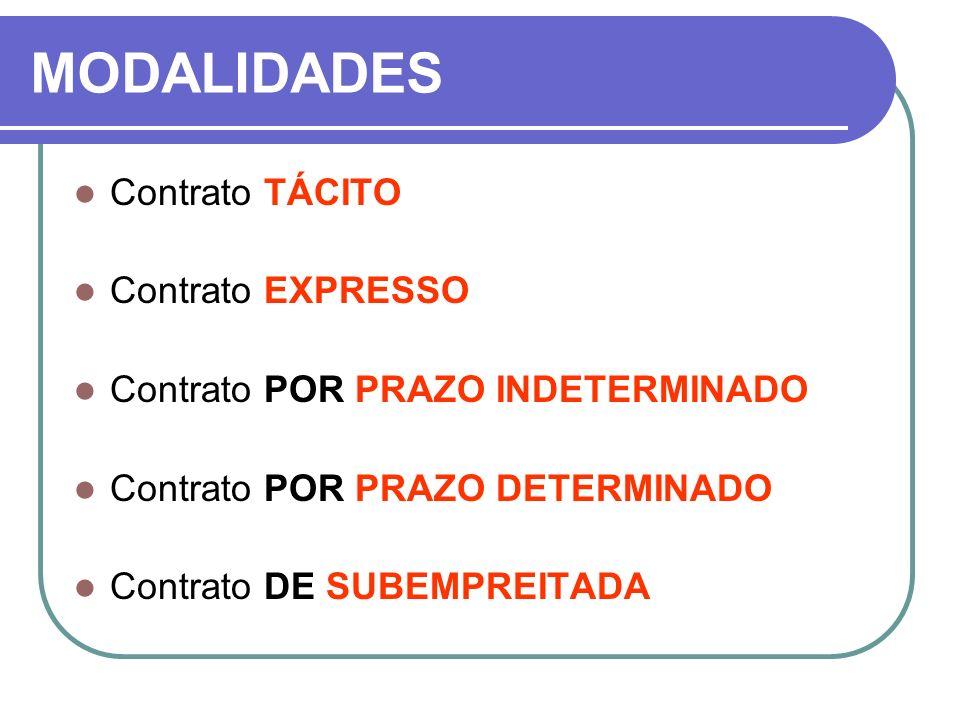 MODALIDADES Contrato TÁCITO Contrato EXPRESSO