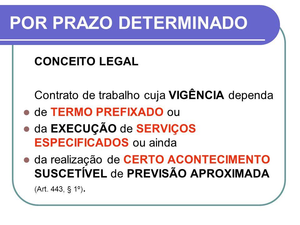 POR PRAZO DETERMINADO CONCEITO LEGAL