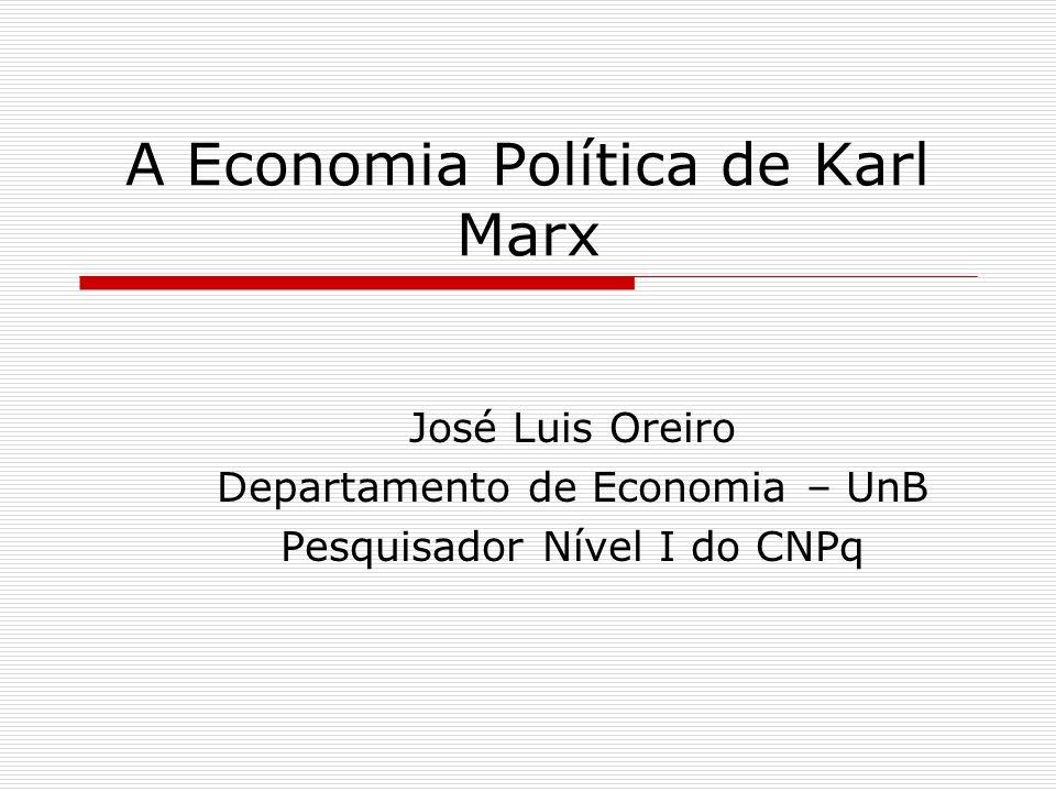 A Economia Política de Karl Marx