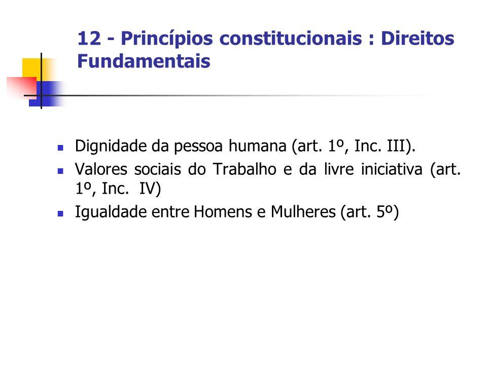 12 - Princípios constitucionais : Direitos Fundamentais