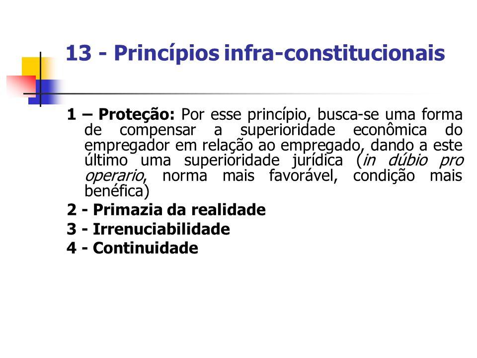 13 - Princípios infra-constitucionais