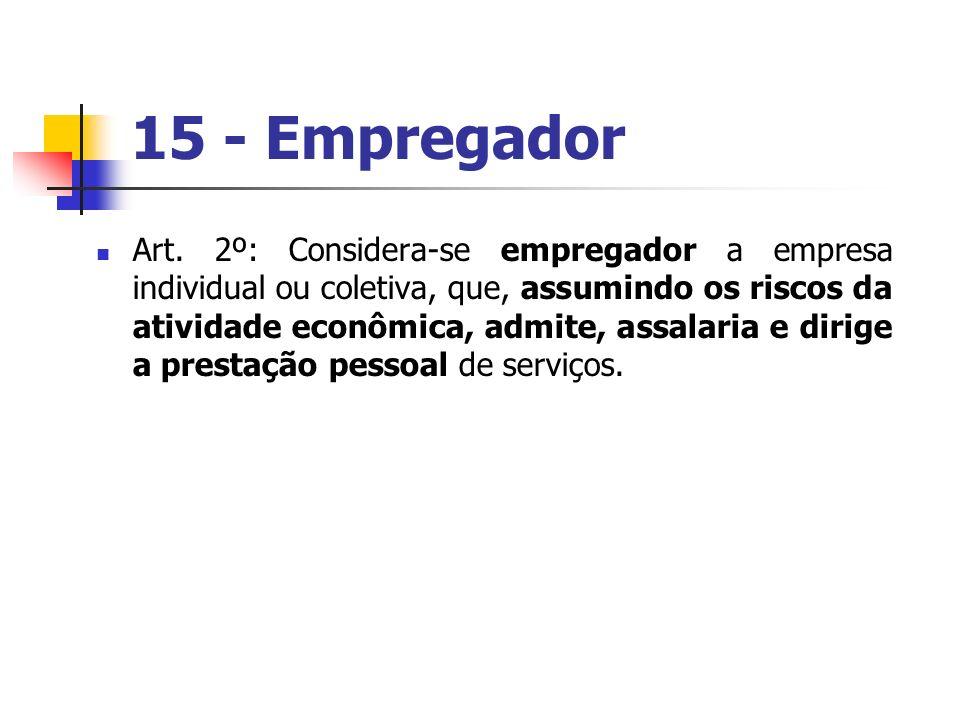 15 - Empregador