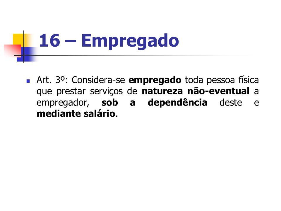 16 – Empregado
