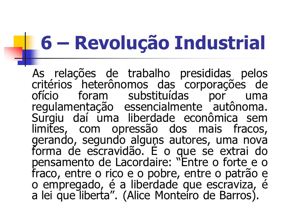 6 – Revolução Industrial