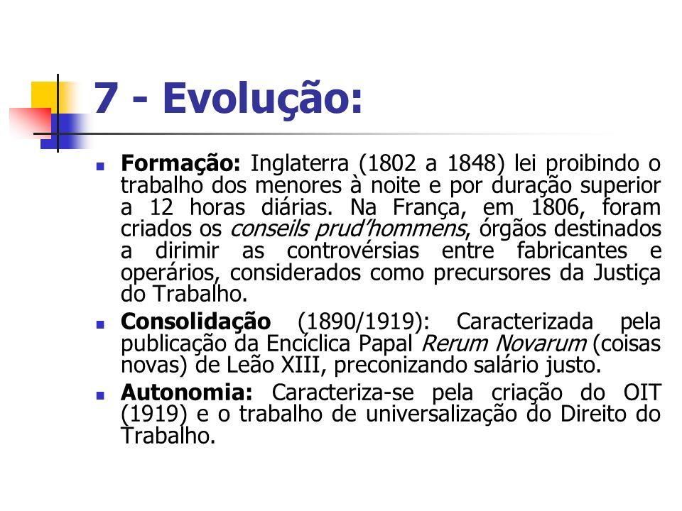 7 - Evolução: