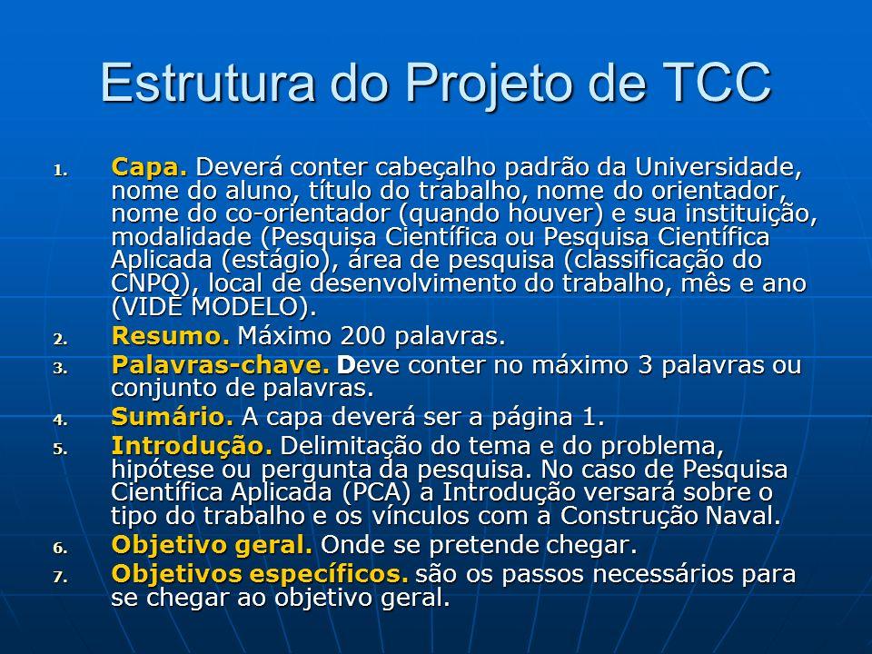 Estrutura do Projeto de TCC