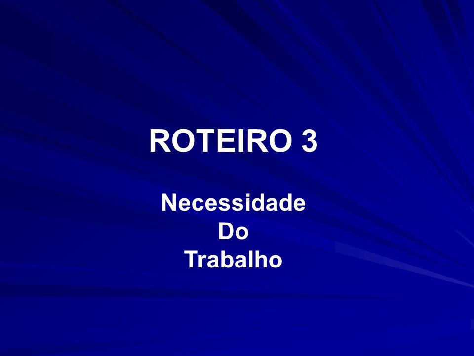 ROTEIRO 3 Necessidade Do Trabalho
