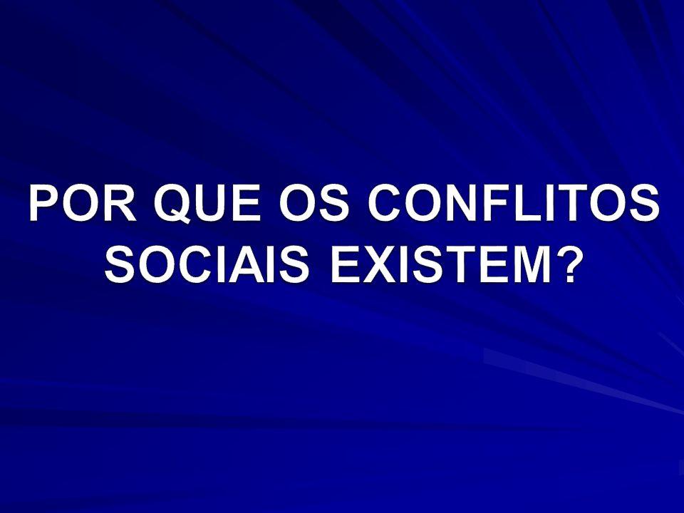 POR QUE OS CONFLITOS SOCIAIS EXISTEM