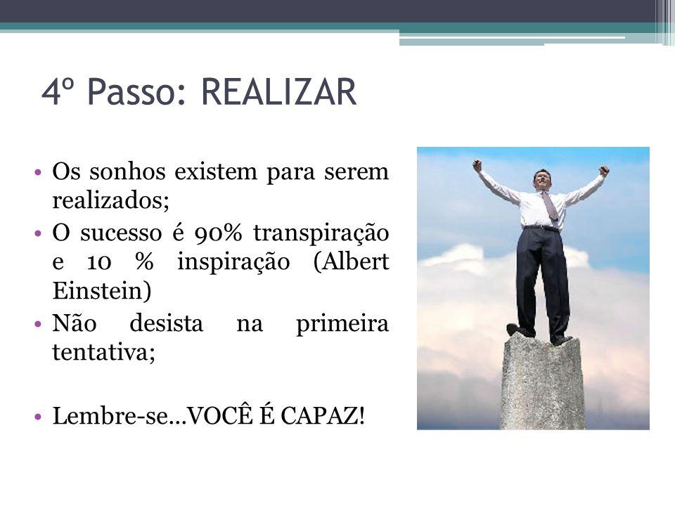 4º Passo: REALIZAR Os sonhos existem para serem realizados;