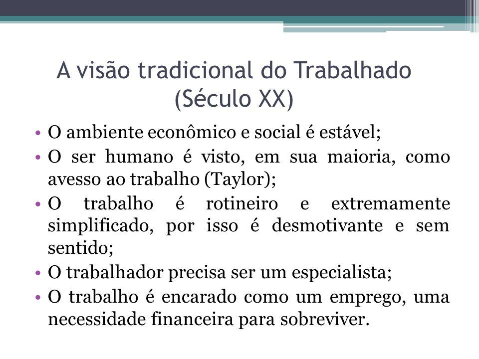 A visão tradicional do Trabalhado (Século XX)