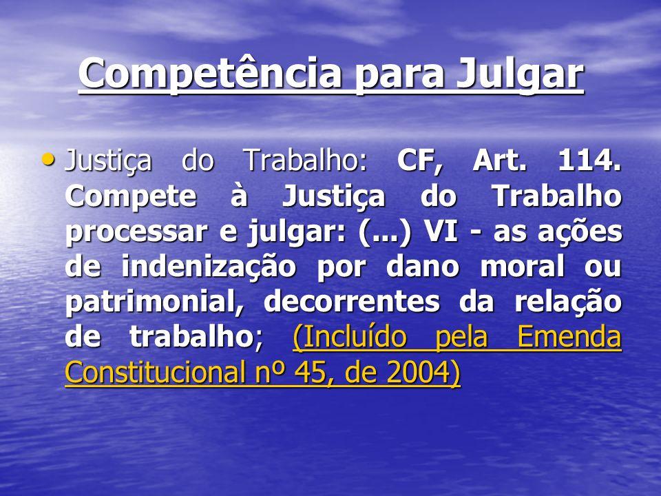 Competência para Julgar