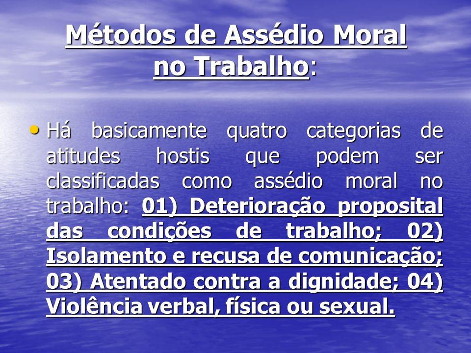 Métodos de Assédio Moral no Trabalho: