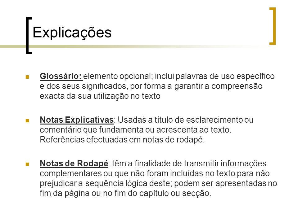 Explicações