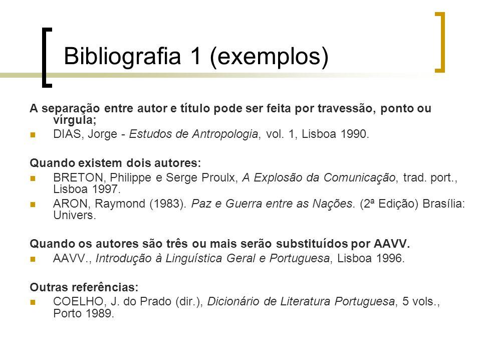 Bibliografia 1 (exemplos)