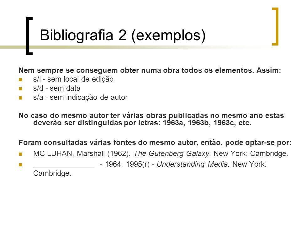 Bibliografia 2 (exemplos)