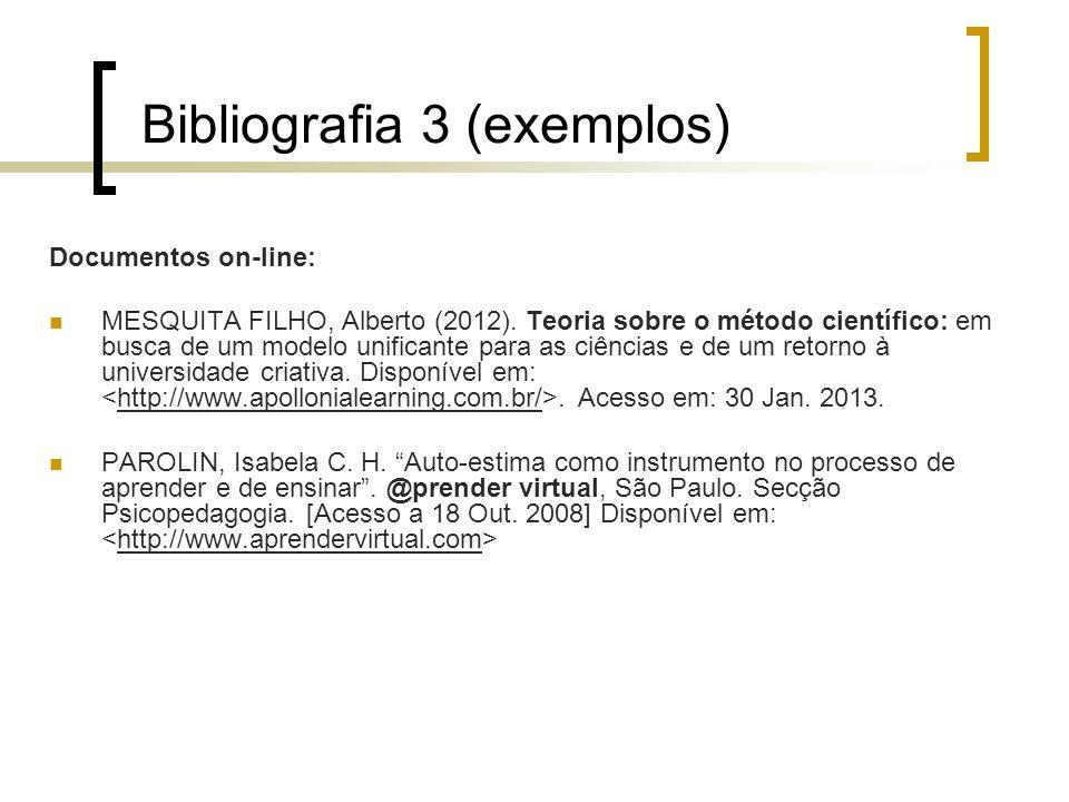 Bibliografia 3 (exemplos)