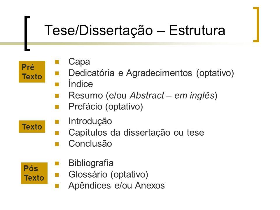 Tese/Dissertação – Estrutura