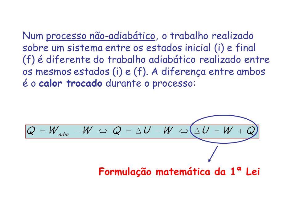 Formulação matemática da 1ª Lei