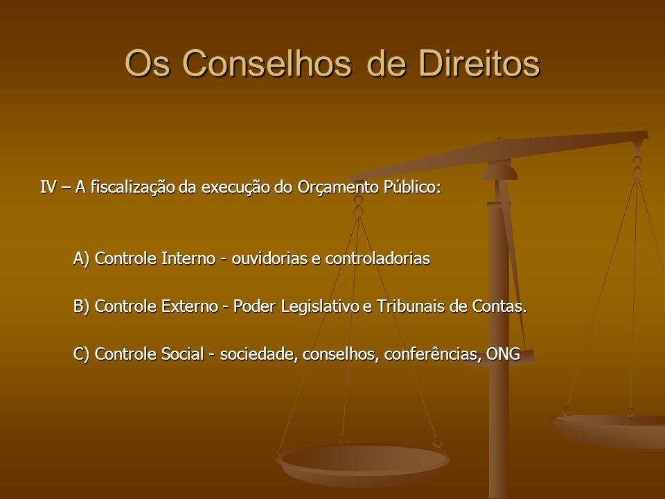 Os Conselhos de Direitos