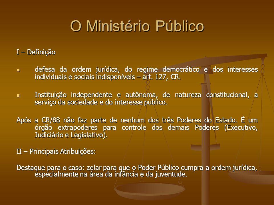 O Ministério Público I – Definição