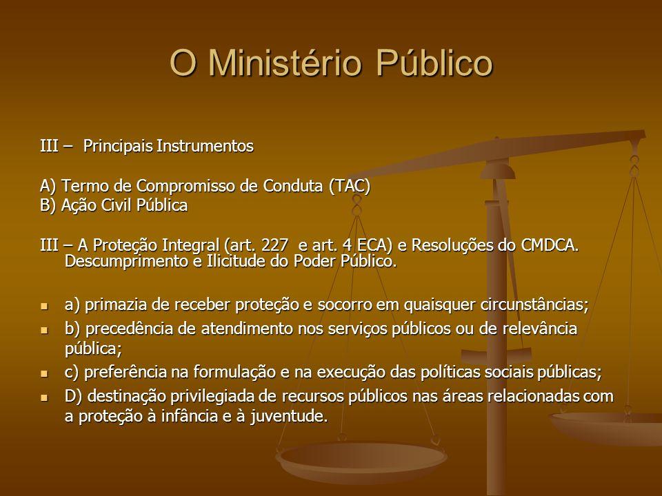 O Ministério Público III – Principais Instrumentos