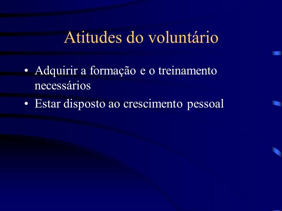 Atitudes do voluntário