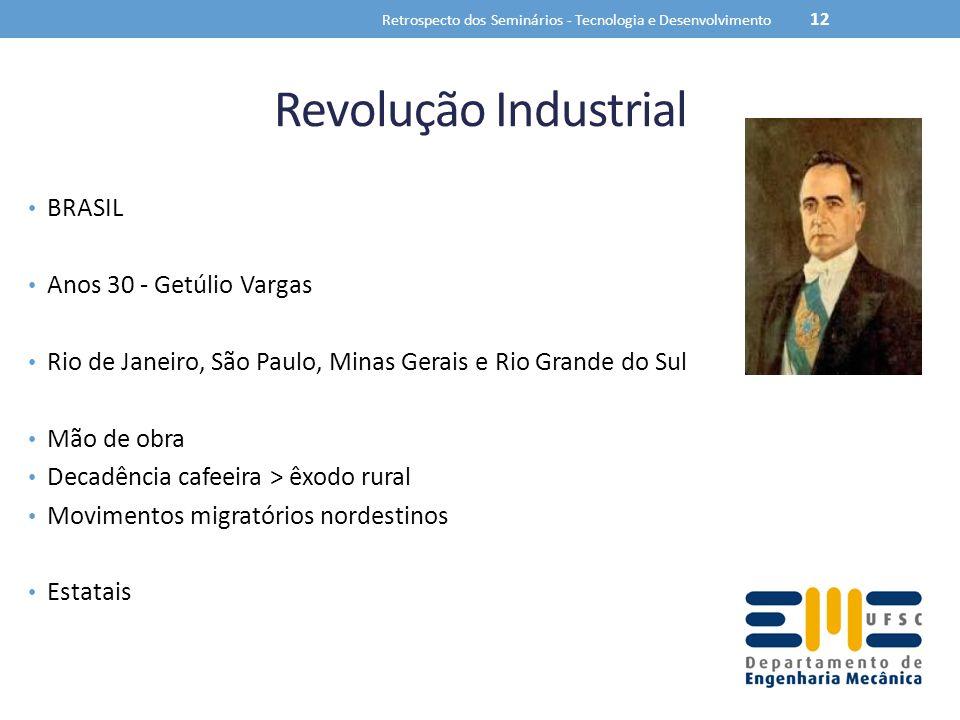 Retrospecto dos Seminários - Tecnologia e Desenvolvimento