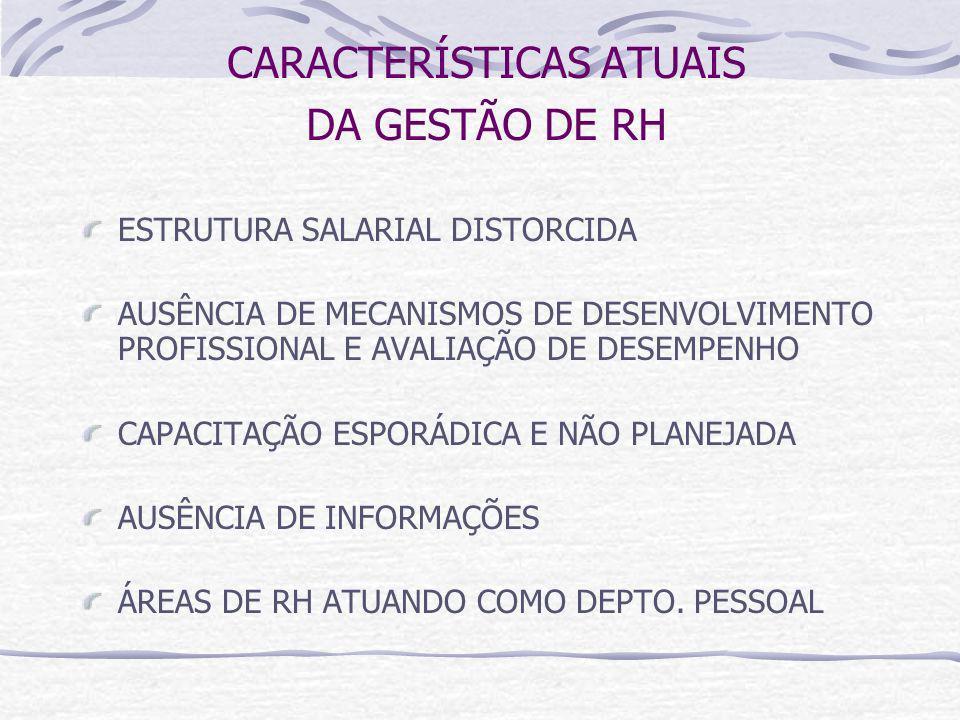 CARACTERÍSTICAS ATUAIS DA GESTÃO DE RH