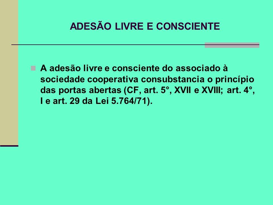 ADESÃO LIVRE E CONSCIENTE