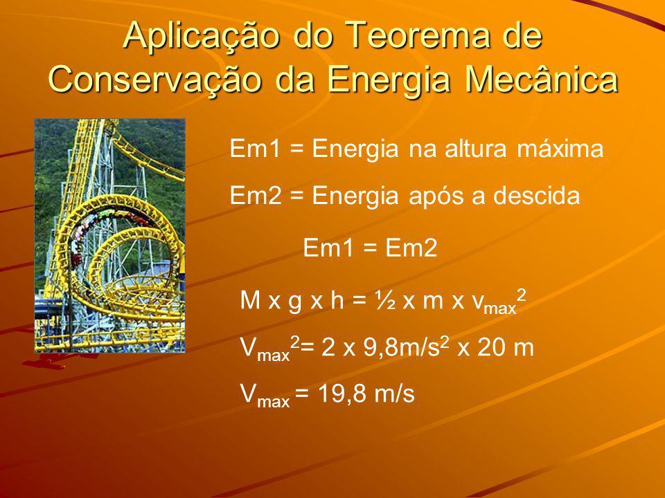 Aplicação do Teorema de Conservação da Energia Mecânica