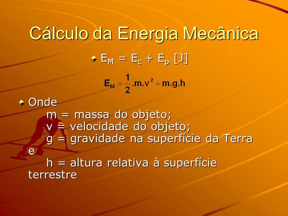 Cálculo da Energia Mecânica