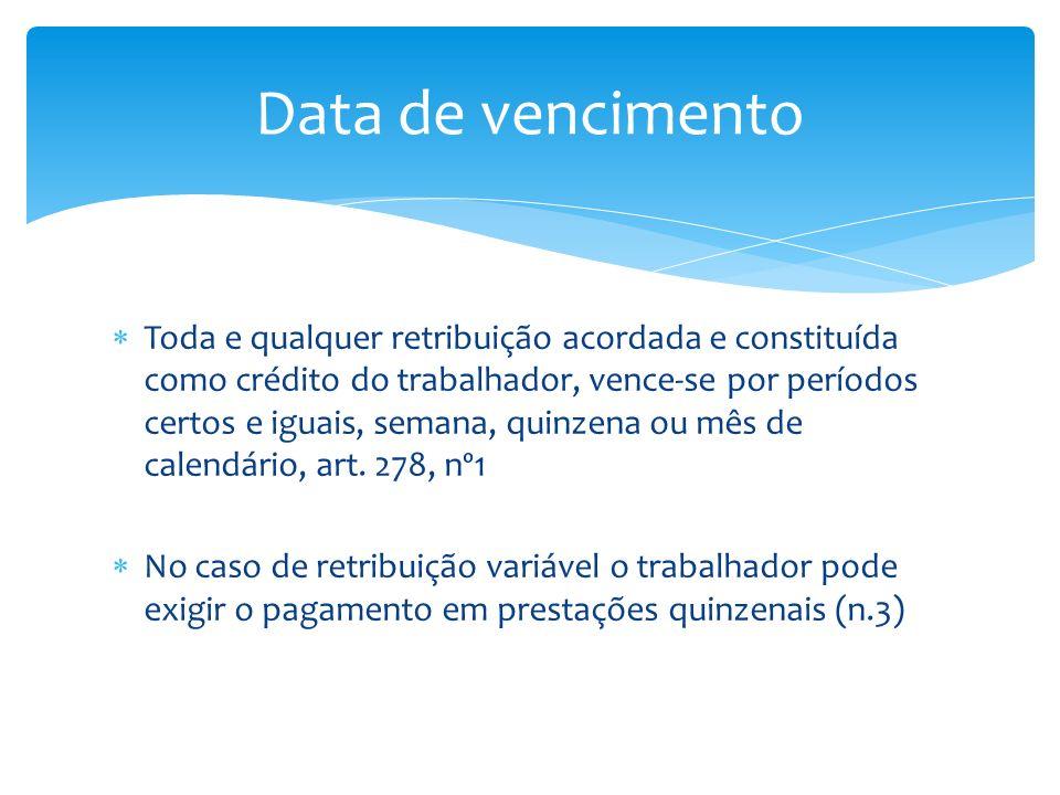 Data de vencimento