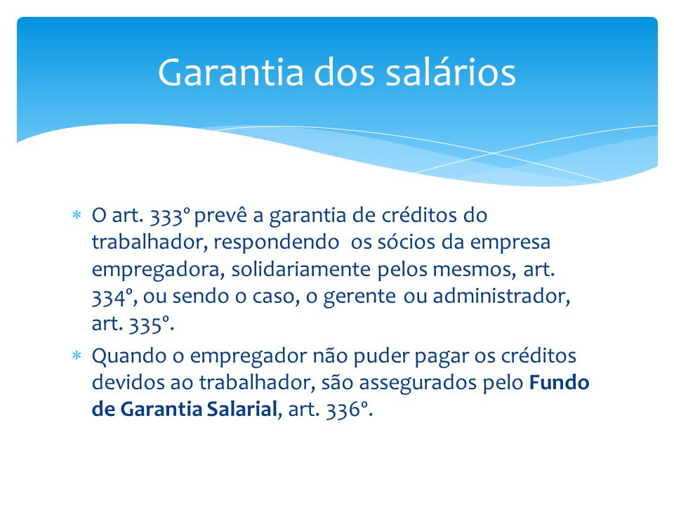 Garantia dos salários
