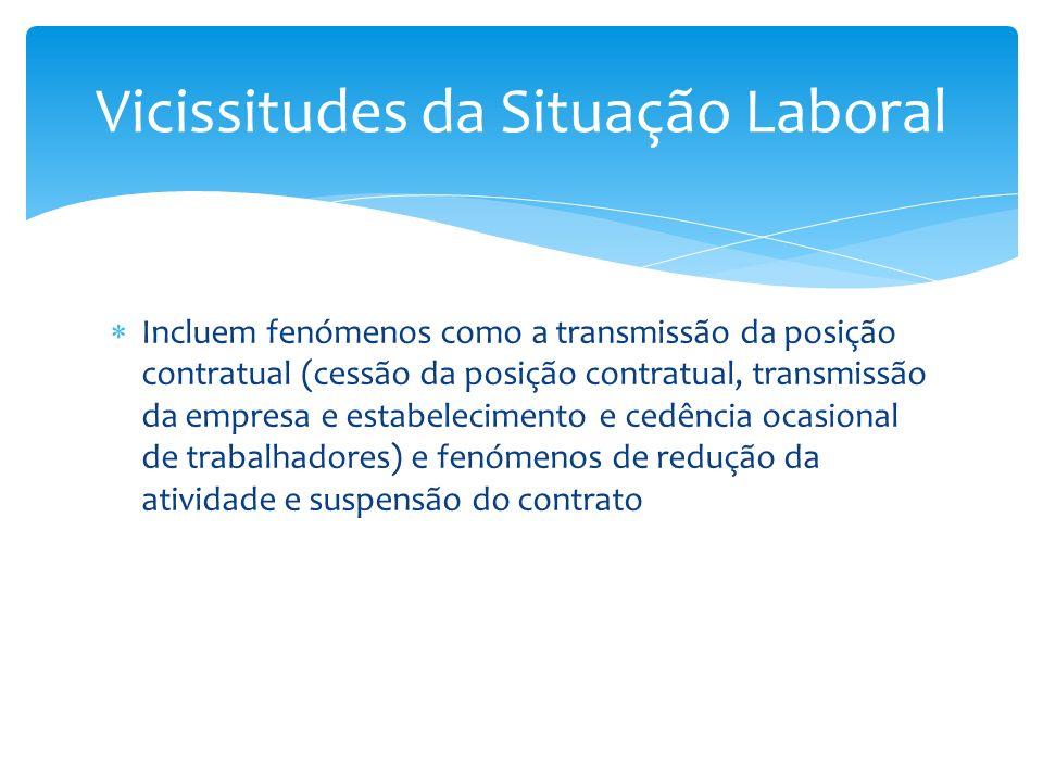 Vicissitudes da Situação Laboral
