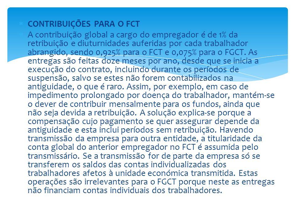 CONTRIBUIÇÕES PARA O FCT