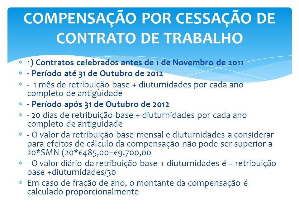 COMPENSAÇÃO POR CESSAÇÃO DE CONTRATO DE TRABALHO