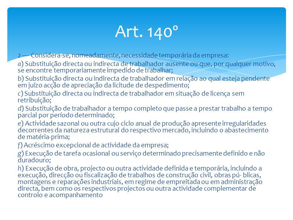 Art. 140º