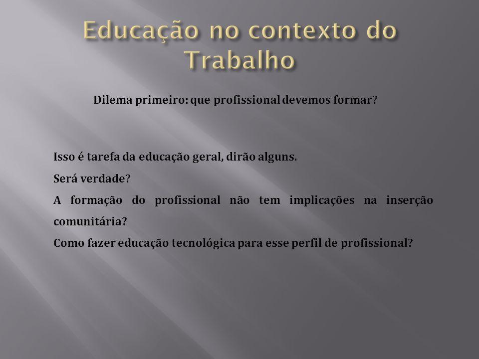 Educação no contexto do Trabalho