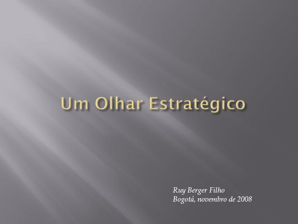 Um Olhar Estratégico Ruy Berger Filho Bogotá, novembro de 2008
