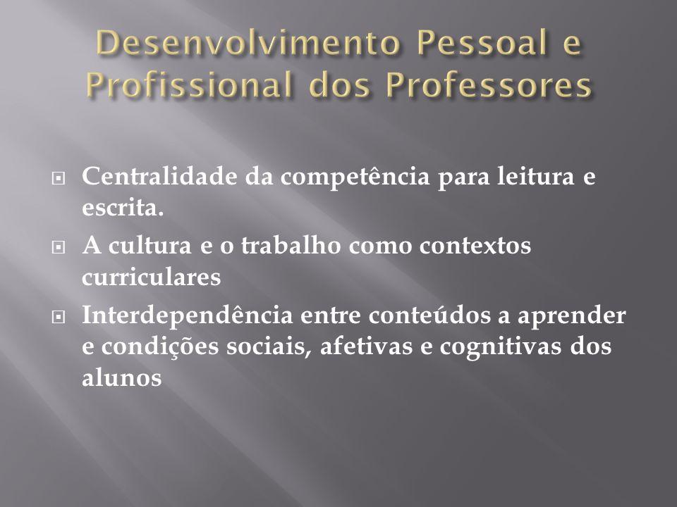Desenvolvimento Pessoal e Profissional dos Professores