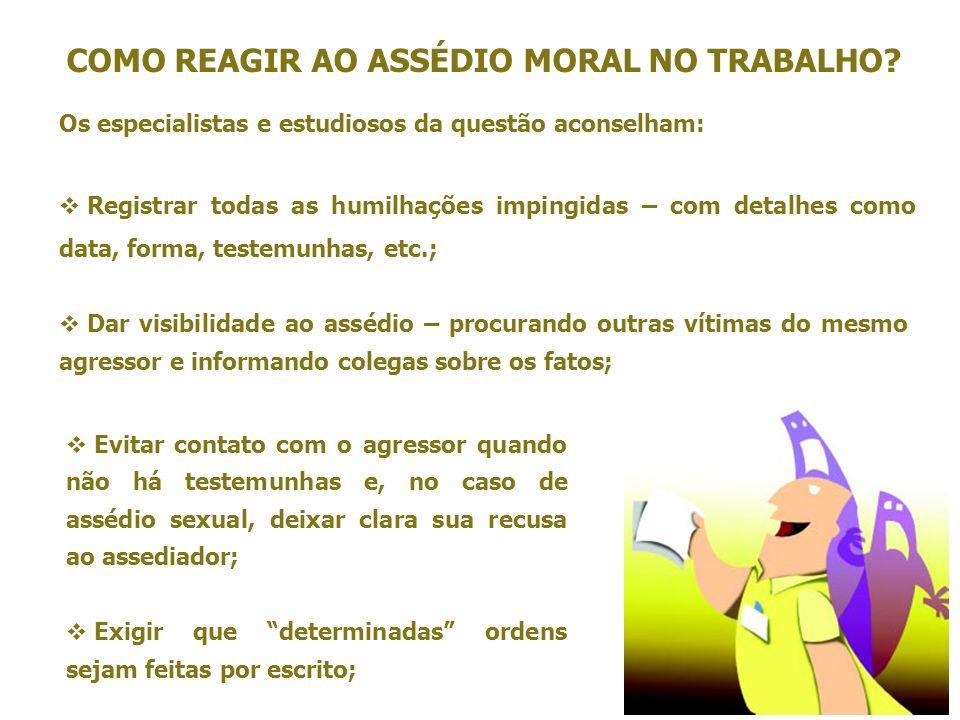 COMO REAGIR AO ASSÉDIO MORAL NO TRABALHO