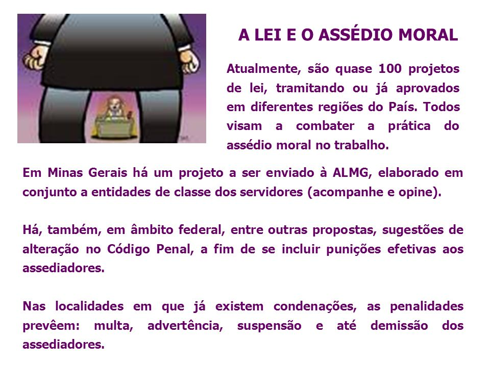 A LEI E O ASSÉDIO MORAL