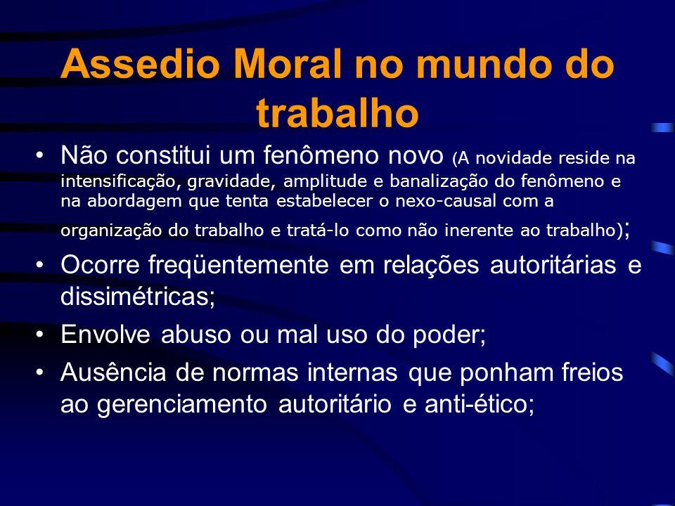 Assedio Moral no mundo do trabalho