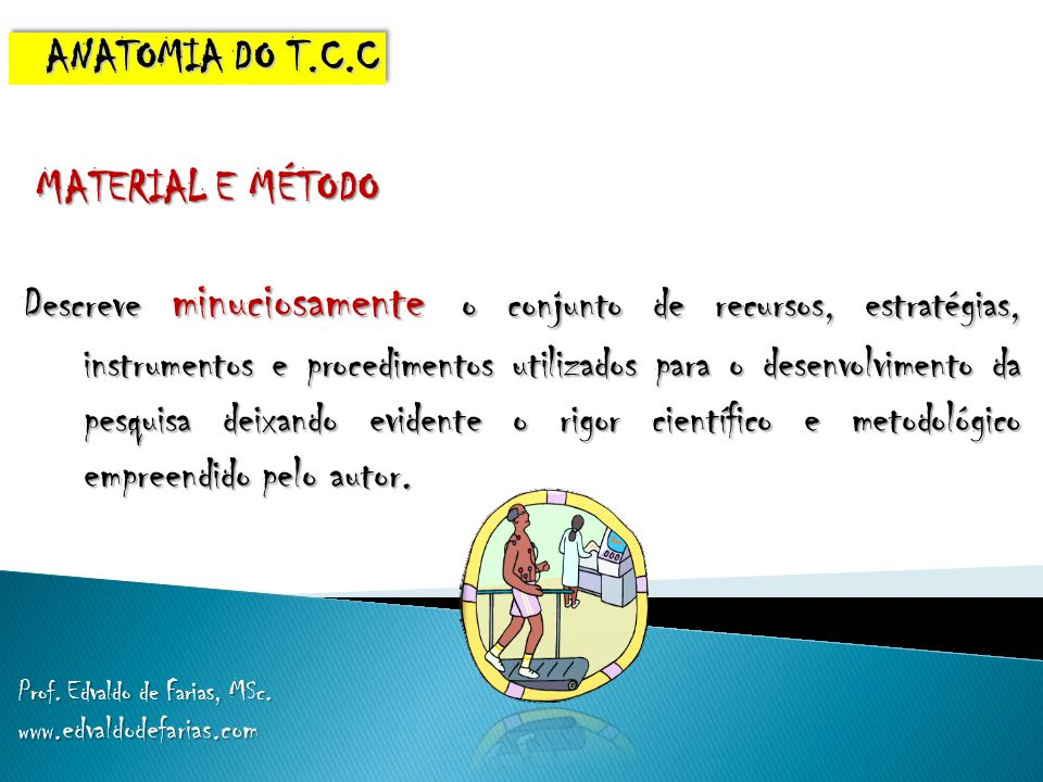 ANATOMIA DO T.C.C MATERIAL E MÉTODO