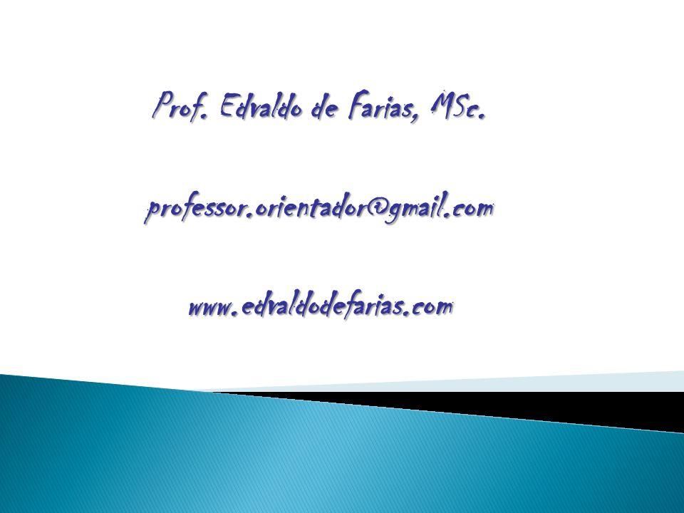 Prof. Edvaldo de Farias, MSc.