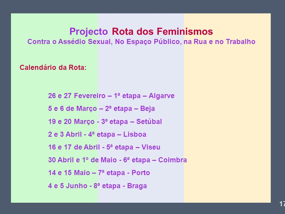 Projecto Rota dos Feminismos