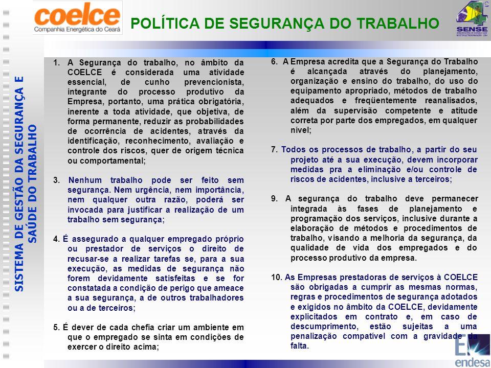 POLÍTICA DE SEGURANÇA DO TRABALHO