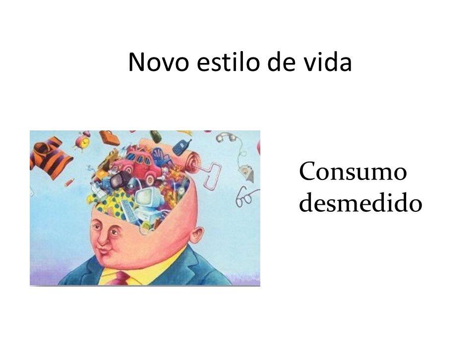 Novo estilo de vida Consumo desmedido
