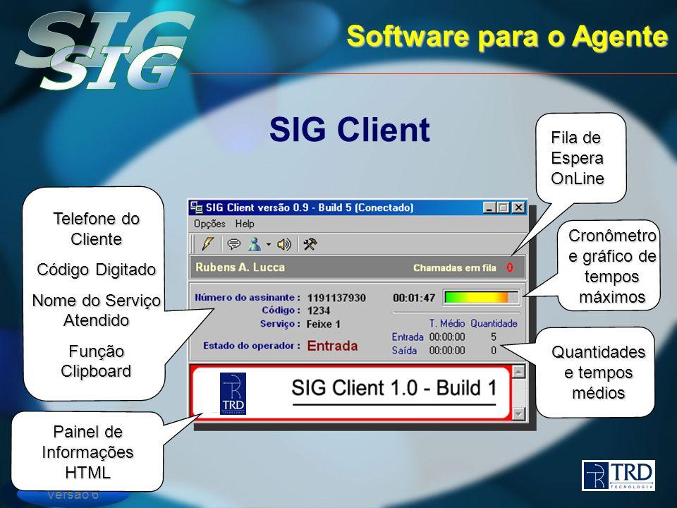 SIG Client Software para o Agente Fila de Espera OnLine
